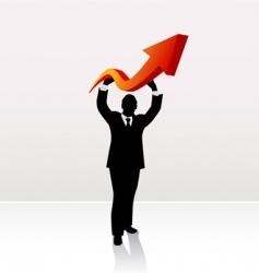 businessman lifting arrow vector image vector image