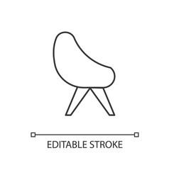 Chair linear icon vector