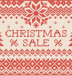 Christmas sale Scandinavian or russian style vector