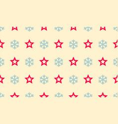 christmas snowflake and star seamless pattern vector image