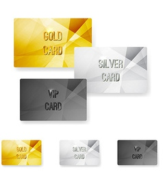 Club member metal modern cards template vector