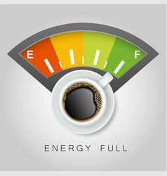 coffee energy concept realistic vector image