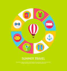 concept summer travel vector image