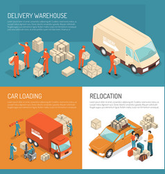 delivery moving design concept vector image