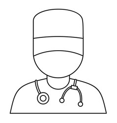 doctor icon outline style vector image