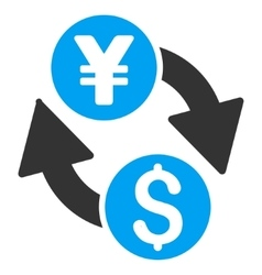 Dollar Yen Exchange Flat Icon vector