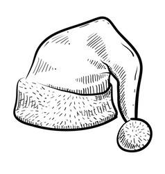 doodle santa hat vector image
