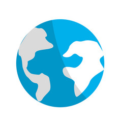 earth planet environment conservation icon vector image