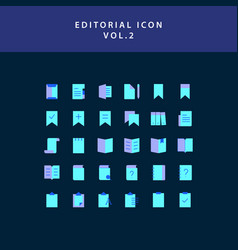 Editorial flat style design icon set vol2 vector