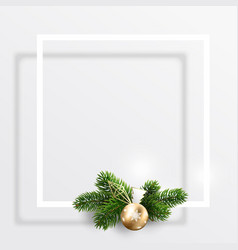 empty postcard for christmas and new year wishes vector image