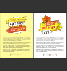 exclusive fall products buy now at super hot price vector image