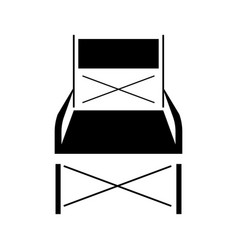 Folding chair vector