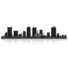 Fort worth usa city skyline silhouette vector