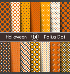 fourteen polka dot on halloween seamless vector image