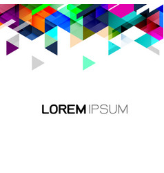 Geometric template gradient and modern overlapping vector