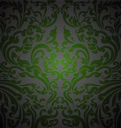 Green floral art vector