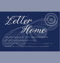Handwritten font typography vector