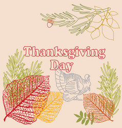 happy thanksgiving day hand vector image