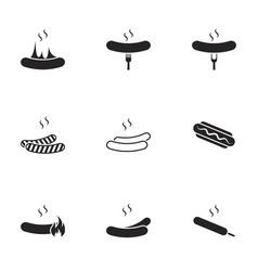 Icons for theme sausage vector