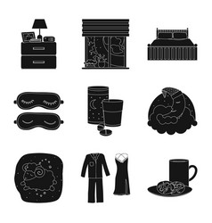 isolated object of dreams and night icon vector image