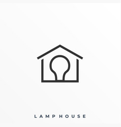 lamp house template vector image