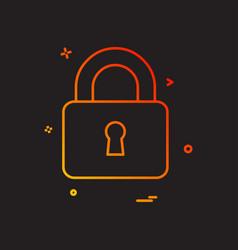 lock safe security icon design vector image