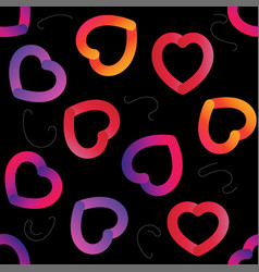 Love actually colorful trendy seamless vector