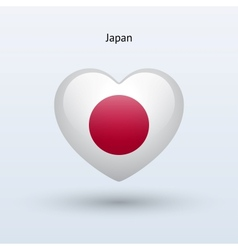 Love Japan symbol Heart flag icon vector image
