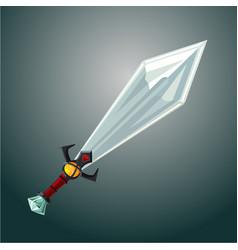 magic sword antique weapon cartoon vector image