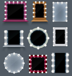 makeup mirror set vector image