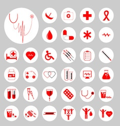 Medical icons 01 vector image
