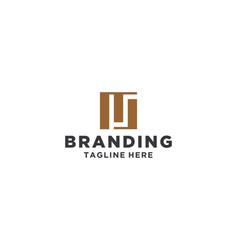 mj or ms square legal logo design inspiration vector image