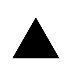 Mockup of blank triangle black icon template vector