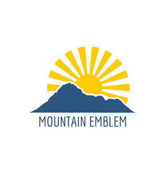 mountain emblem design vector image