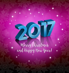 New 2017 Year greeting on a pink background vector image