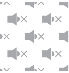 New No sound seamless pattern vector image
