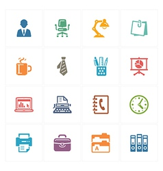 Office icons - colored series vector