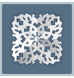 Paper snowflake origami icon Christmas New Year vector image