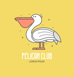 Pelican beach club logo vector