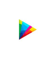 Play music logo icon design vector