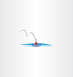 river fishing bobber logo vector image