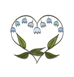 Romantic frame Valentine day doodle vector