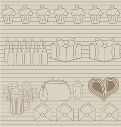 set of party vector image