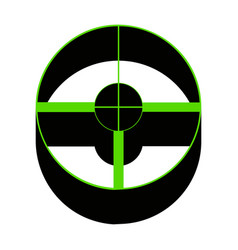 sight sign green 3d icon vector image