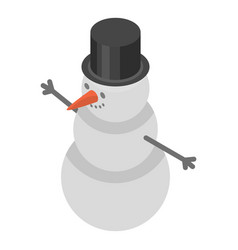 snowman icon isometric style vector image
