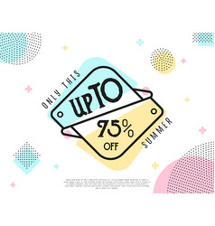 Special offer sale tag vector