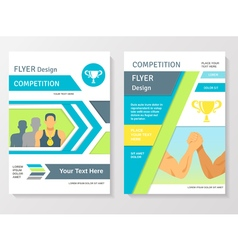 Sports Competition Flyer Template vector image