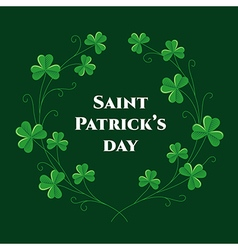 St patrick wreath vector image