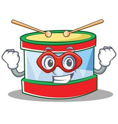 super hero toy drum character cartoon vector image