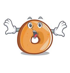 surprised bagels mascot cartoon style vector image